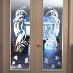 binnendeuren met glas kraanvogels edelglas