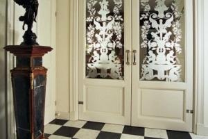 binnendeuren met glas louis seize edelglas