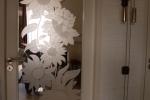 gezandstraald glas zonnebloemen edelglas