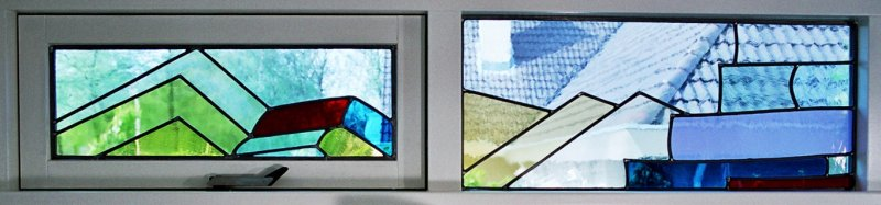 glas-in-lood ramen moderne stijl