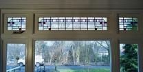 glas in lood raam art-deco stijl