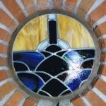 glas in lood raam van opaal glas