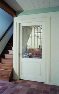 deur met glas in lood