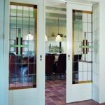 kamer en suite met glas in lood