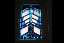 glas in lood raam naar architect Frank Loyd Wright