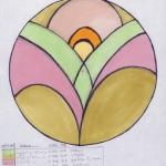 glas in lood art deco ontwerp edelglas