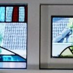 glas in lood boekenramen rechts edelglas