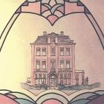 glas-in-lood brandschildering huis edelglas