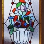 glas in lood klassiek bloemen edelglas