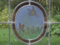 glasinlood brandschildering vogels edelglas