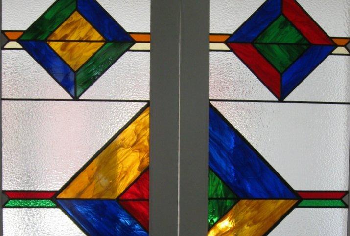 glas in lood raam ontwerp klant