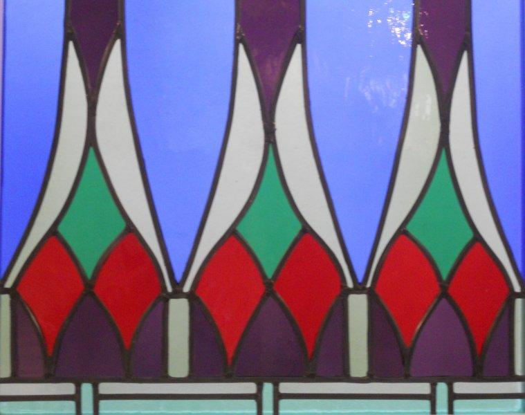 glas in lood rokin detail 1e verdieping