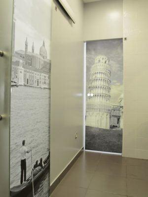 glazen deur met foto edelglas