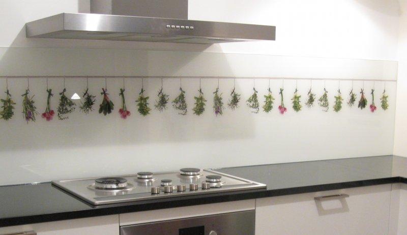 Keuken Glas Foto : foto op glas kruiden keuken achterwand edelglas