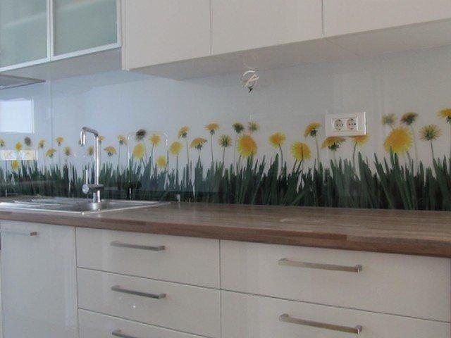 Spatscherm Glas Keuken : Glazen achterwand keuken edelglas glazen achterwand op maat