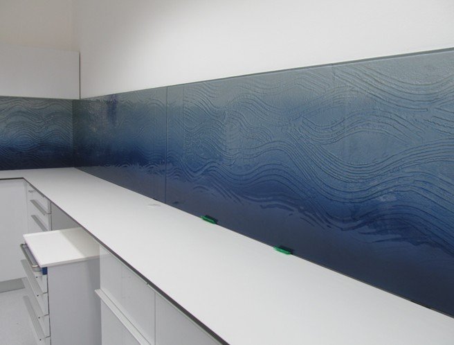 Keuken Zandstralen : keuken-achterwand-fusing-textuur-edelglas