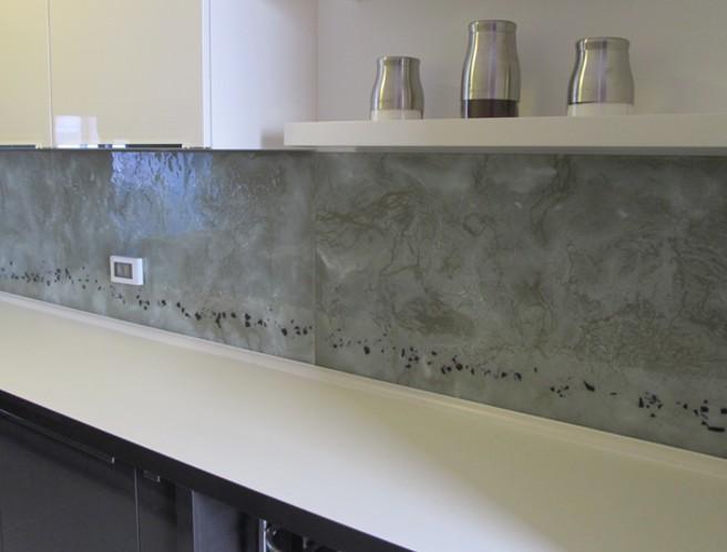 Keuken Achterwand Foto : Visualls keukenachterwand curlzglas uw keuken