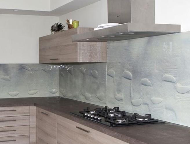 Keuken Zandstralen : keuken-achterwand-fusing-textuur-2-edelglas