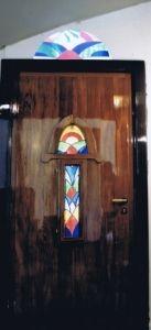 Glas in lood art deco deur