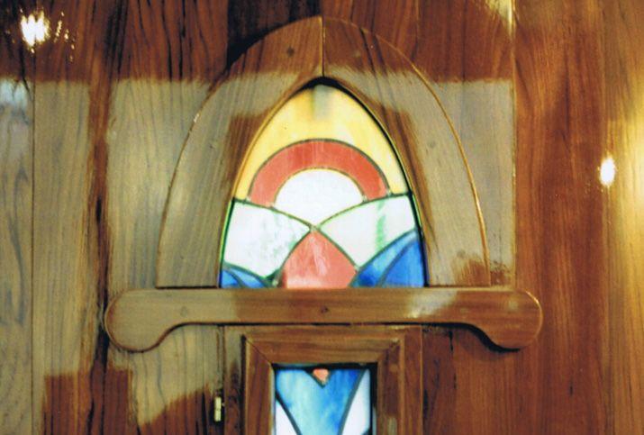 Glas in lood art deco voordeur