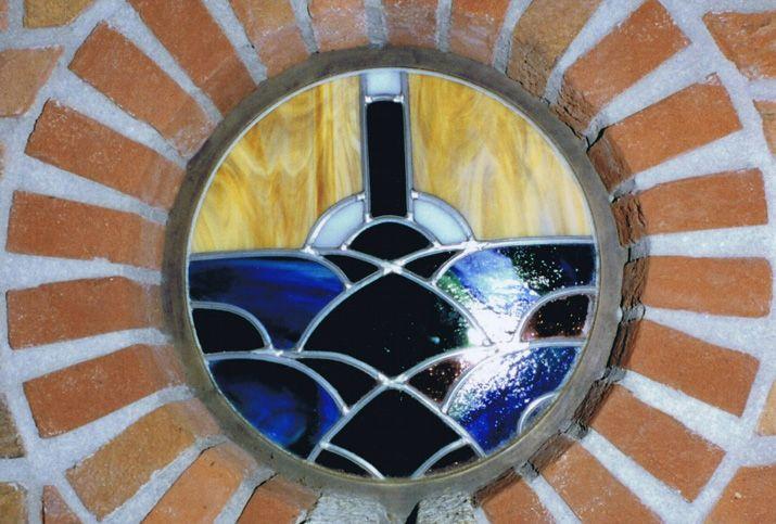 Glas in lood art deco raam