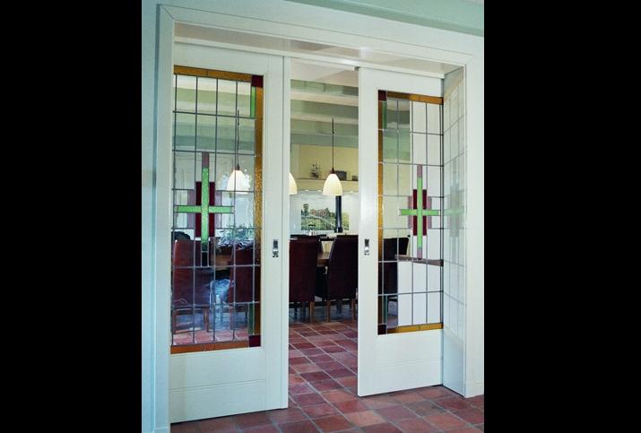 glas in lood ramen boerderij kamer en suite