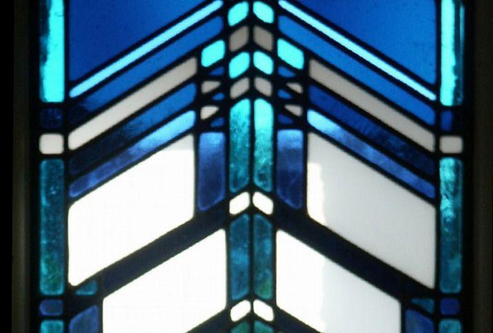 fl wright glas in lood raam