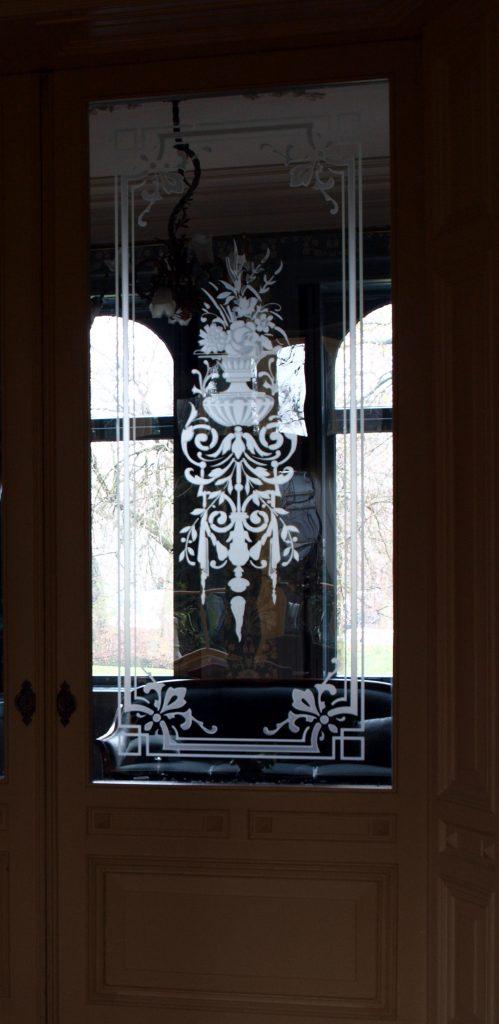 geetst glas kamer en suite deuren edelglas