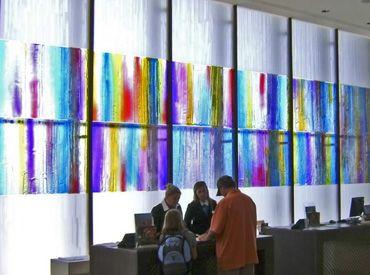 Scheidingswand van glas glasatelier edelglas