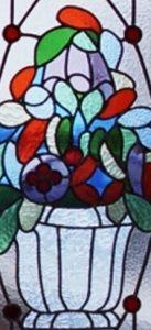 glas in lood bloemenvaas
