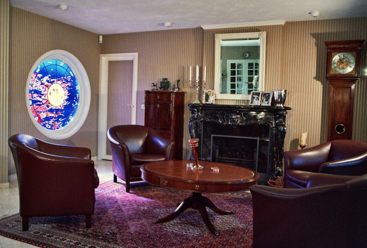 glas in lood raam interieur