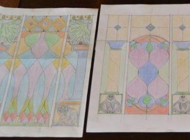 Glas in lood ontwerptekeningen
