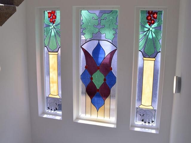 glas-in-lood-raam-rokin-amsterdam-edelglas