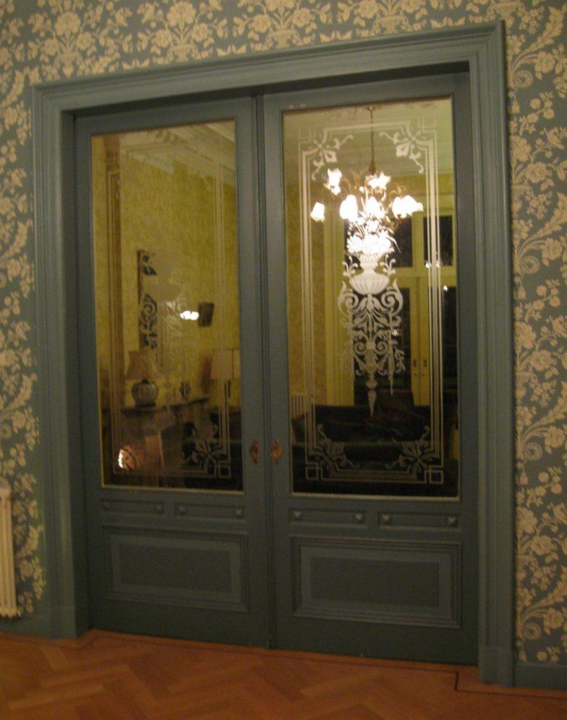 kamer en suite deuren etsen edelglas