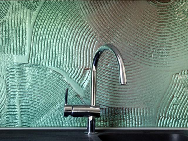 Keuken Tegels Glas : Keuken achterwand gesmolten glas detail edelglas
