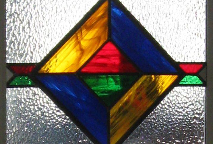 Glas in lood mexicaans raam deur