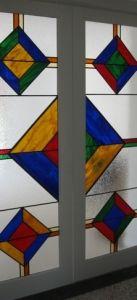 mexicaanse glas in lood deuren