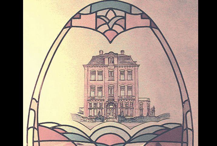 Glas in lood museumplein brandschildering