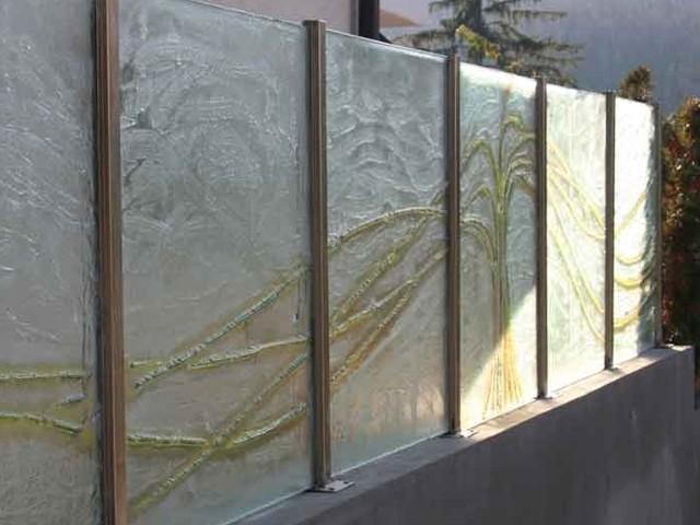 scheidingswand van glas buiten edelglas