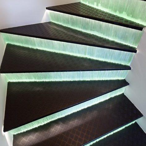 trap met glas en verlichting 2 edelglas