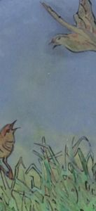 Glas in lood vogeltjes smal