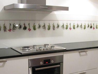 Achterwand keuken foto op glas