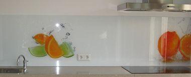 Achterwand keuken met foto combi light delight