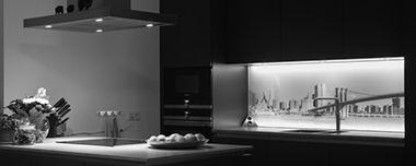 Achterwand keuken met foto Manhattan