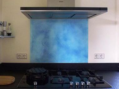 Achterwand keuken van Bernis glas