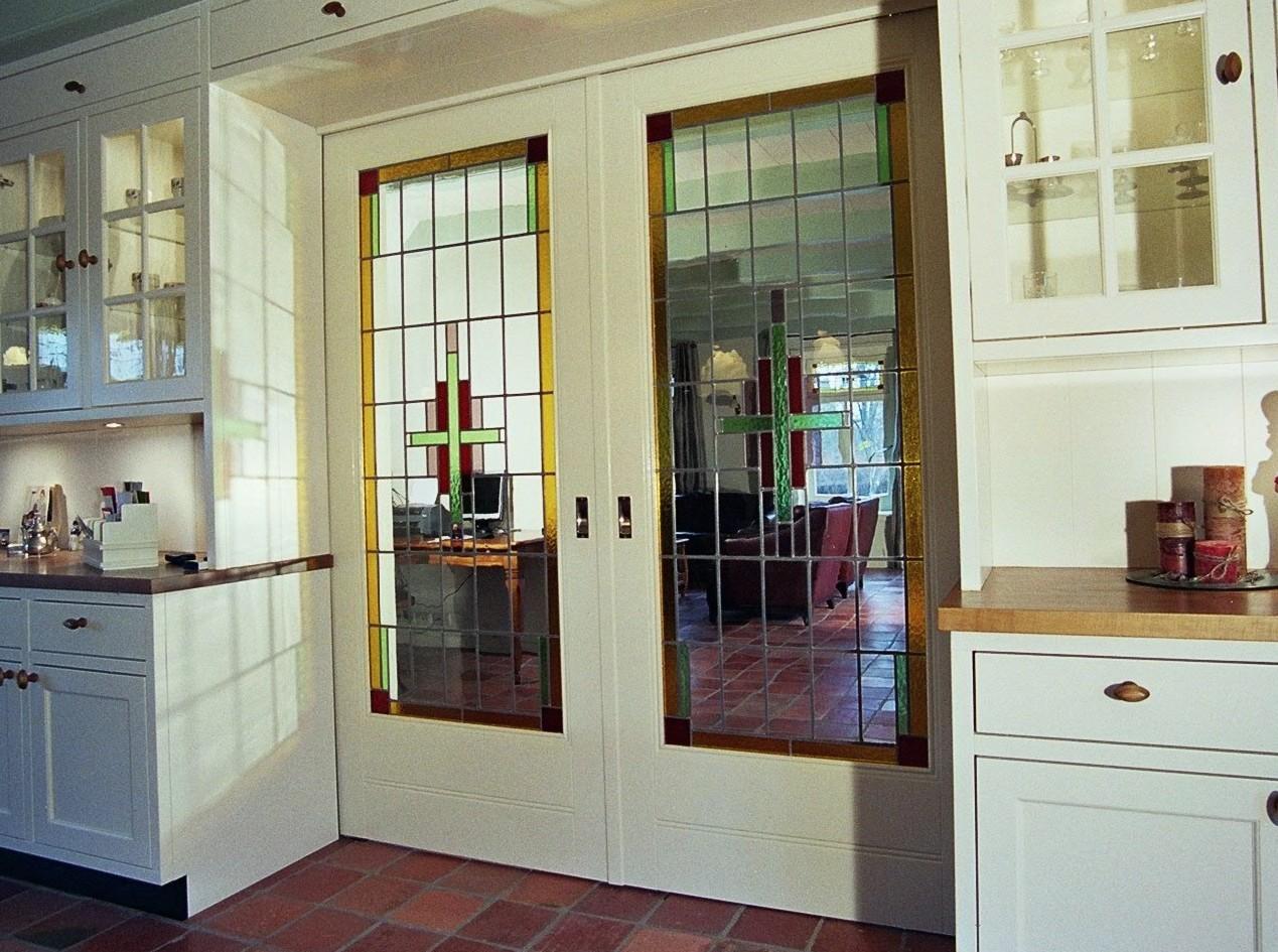 Glas in lood deuren deuren van glas in lood gemaakt door - Keuken en woonkamer in dezelfde kamer ...