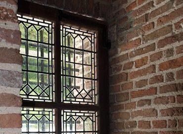 monumentale glas in loodramen Muiderslot