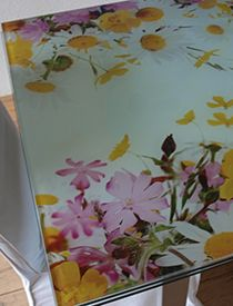 Tafelblad foto op glas