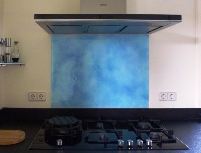 Achterwand keuken edelglas glazen achterwanden keuken op maat