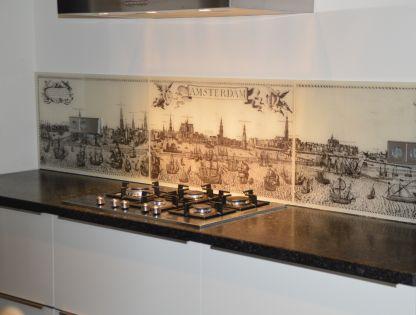 Achterwand keuken edelglas: glazen achterwanden keuken op maat